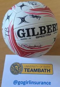 Team Bath Signed Gilbert Netball