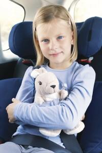 Girl in a car seat