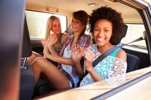young passengers in back seat