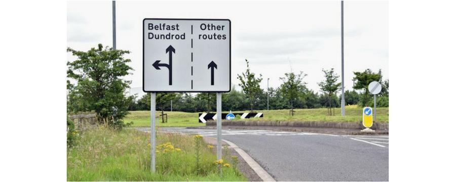 roundabout lane sign