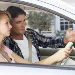 teaching someone to drive