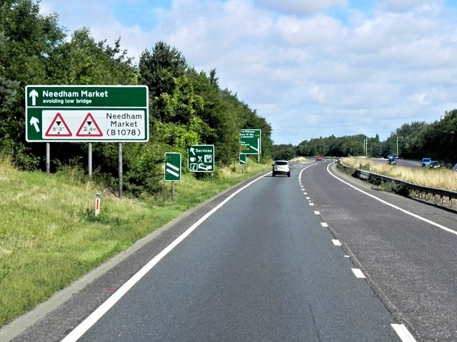Green Dual Carriageway Signs