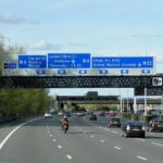 Blue Motorway Signs